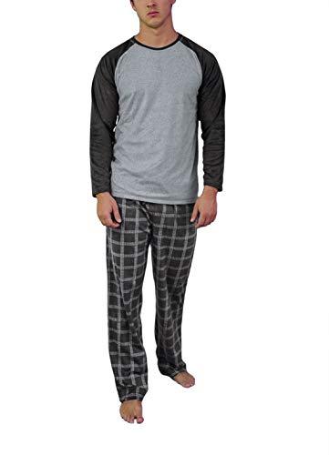 Moonline - Fleece Schlafanzug für Herren, Größe:52, Farbe:grau