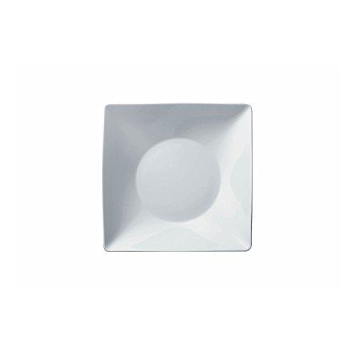 Thomas Sunny Day Assiette Creuse, Carré, Assiette à Soupe, Porcelaine, Blanc, Passe au Lave-Vaisselle, 23 cm, 16513