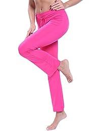 FITTOO Pantalon Yoga Doux Modal Pyjama Femme Fluide Lâche Sport Elastique  Legging Taille Haute Fitness Jogging a5b12bc6fb3