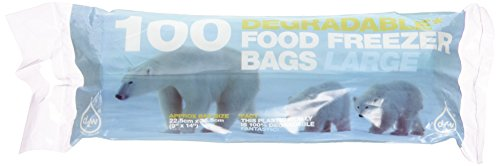D2W Degradable Large Food Freezer 100 Bags (Pack of 10)