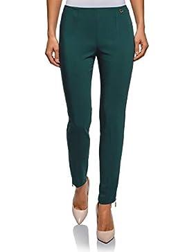 oodji Ultra Mujer Pantalones Stretch Ajustados