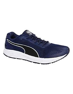 Puma Men's Engine Blue Depthspuma Blackpuma White Running Shoes - 7 UK/India (40.5 EU) (19043107)