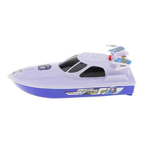 Baoblaze Batterien Boot Badespielzeug Badewannenspielzeug Wasserspielzeug für Kinder Baby - Weiß
