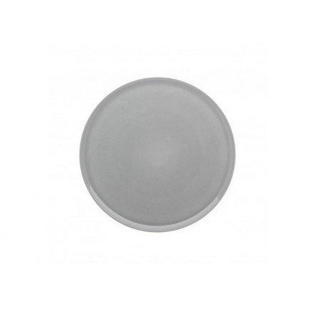 DEGRENNE 230144 Plat à Tarte Rond, Porcelaine, Gris Perle, 32 x 32 x 1,6 cm