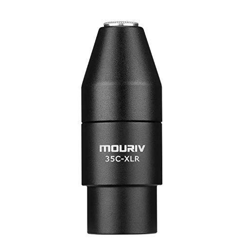 Adaptateur TRS vers XLR, adaptateur de microphone femelle mini-jack Mouriv de 3,5 mm (TRS) au connecteur mâle XLR à 3 broches compatible avec les caméscopes, les enregistreurs et les mélangeurs