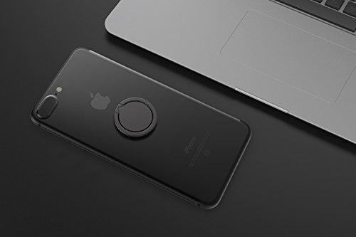 Kronya® | 360° drehbarer Smartphone Fingerhalter | Auto Finger Fitness Griff Halter Halterung Handy Ring Ringhalter Sport Ständer Tablet Apple iPhone iPad 7 8 10 X Samsung Galaxy S8 4 (Schwarz) - 5