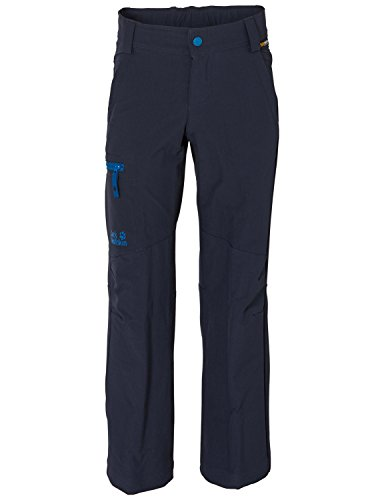 Jack Wolfskin Jungen Hose Activate II Softshell Pants, Night Blue, 152, 1604961-1010152