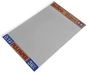 Tamiya 70208 - Plástico Placa de 0.1 mm, 3 Unidades, 257 x 364 mm, Color Blanco