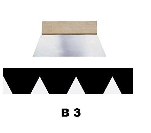 Leim Klebstoff Zahnspachtel Bodenleger Normalstahl B3 3.4x3.6mm gezahnt 250mm