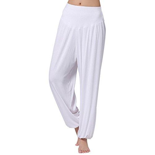 JLTPH Pantaloni Larghi Donna Harem Baggy Hip Hop Lunghi Pantaloni Morbida Modal Elastico Yoga Pantaloni Danza Pantaloni Workout Sportivi Jogging Pantaloni