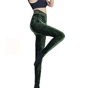 HHXWU Pants Damenhosen warme Palasthosen Plus SAMT Verdickung Einteilige Hosen warme Hosen