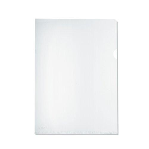 Herlitz 10843746 - Lote de fundas portadocumentos (100 unidades, polipropileno, A4), transparente