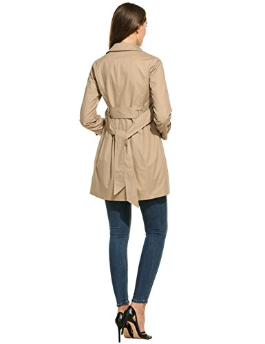 4666694c2988 Damen Trenchcoat, Sondereu Mantel Damen Sommer lange Jacke Klassische  Casual Double-breasted Turn-