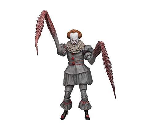 Stephen King Kostüm Figur - Stephen Kings - Es 2017 - Actionfigur - Ultimate - Pennywise Clown - Dancing - 18 cm + Zubehör + LED Leuchtfunktion