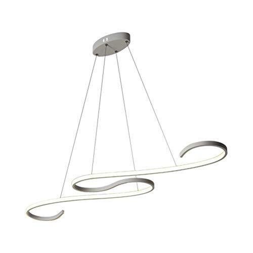 XUEGM-Light Moderne LED Stufenlos Dimmbar Mit Fernbedienung Kronleuchter Kreativen Stil Aluminium Art Deco Decke Pendelleuchte Leuchten für Esszimmer Badezimmer Schlafzimmer Küche Flur Beleuchtung (Art Deco Decken-leuchte)