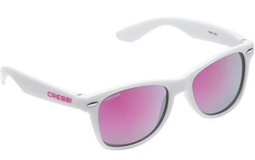 Cressi Swim Kinder Maka Teenager'S Sunglasses Sonnenbrille, Weiß/Linsen Rosa, 5/9 Jahre