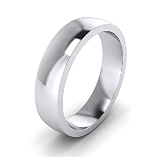 Unisex Sterling Silver 5mm Super Heavy Court Shape Polished Wedding Ring (W)