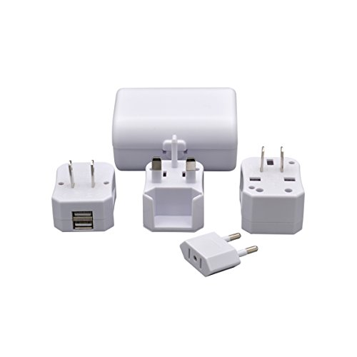 yuadon Compact International Travel World Plug Adapter Set Eingebauter Dual USB Ports Ladegerät für Handy Laptop Desktop Touch Screen Tablet Computer GPS Ladegeräte Touch-screen-notebook-computer
