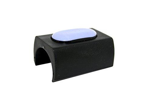 GLEITGUT Klemmgleiter PTFE für Freischwinger - Teflongleiter für Rundrohr mit Ø 20 mm mit Zapfen/Dorn - 4 Stück - Möbelgleiter für Schwingstuhl