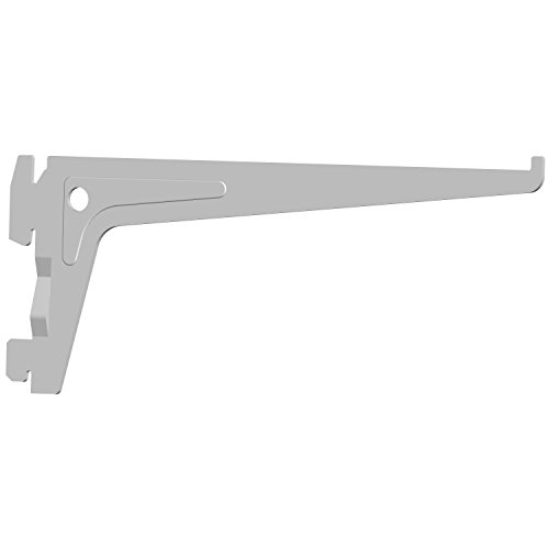 Element System 18133-00003 PRO-Träger Regalträger 1-reihig / 2 Stück / 7 Abmessungen / 3 Farben/L = 20 cm/weiß/für Regalsystem/Wandschiene
