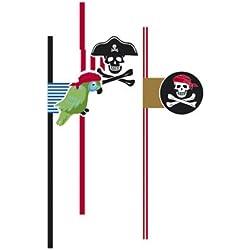 Pajitas de piratas para fiestas temáticas.