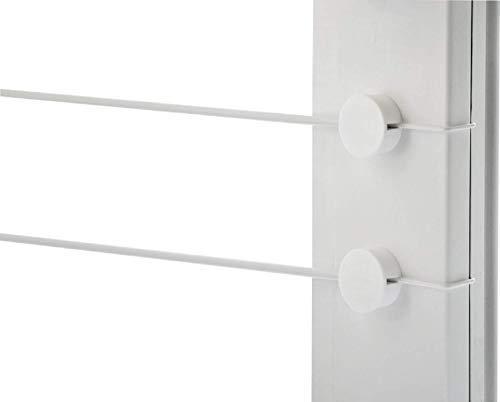 Gardinendraht Set 4Gardinebasic für 1+1 Fenster ohne Bohren oder Kleben/eine Alternative für alle Gardinenstange Klemmstange oder Vitragestange für Scheibengardinen Küchengardinen Bistrogardine/Weiß