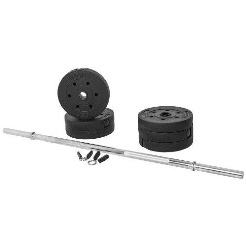 31Y6nShJzhL. SS500  - Gorilla Sports Weight Bench with 38KG Vinyl Weight Set