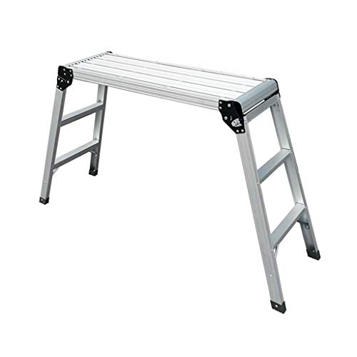 KJZ Outdoor Ladder Portable Fotografie Ladder Metall Autowäsche Leiter Folding Indoor Ladder (größe : C-91.5 * 30 * 80CM)