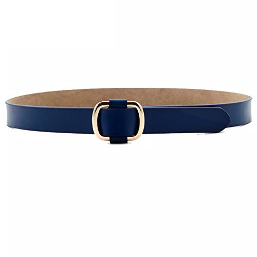 Junjiagao Damengürtel Breite Skinny Elastic Waist Belt Stretch Cinch Belt Dünner Gürtel (Farbe : Blau) - Blau Cinch