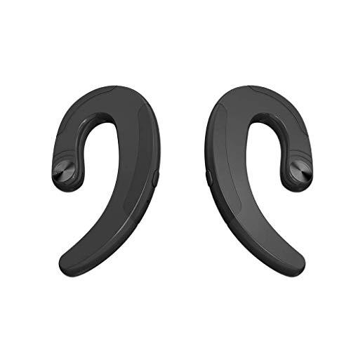 Bluetooth Kopfhörer Ohrhörer, kabellose Ohrbügel-Kopfhörer ohne Ohrstecker Bluetooth-Headset mit Mikrofon, Knochenleitungskopfhörer, Einzel-Ohrbügel-Sport-Headset, kompatibel mit iPhone/Android Dual-wear Bluetooth