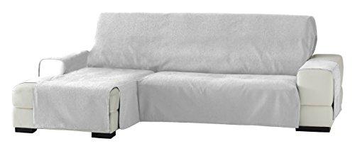 Eysa Italia Zoco Chaise Longue Sinistra Vista Frontale, Poliestere-Cotone, Bianco, 290 cm
