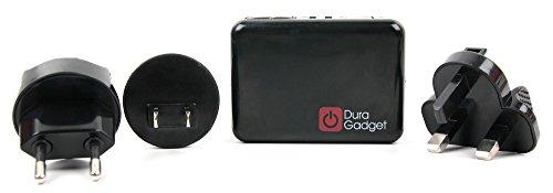 4facher - USB fähiger Reise - Ladestecker | Traveladapter für Ihren Drucker Fujifilm Instax Share SP-3 SQ | Share SP-1 | Share SP-2 sowie weiteren USB fähigen Geräten (Kinder-foto-drucker)