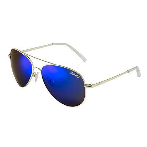 SINNER Sonnenbrille Herren & Damen in Mehrere Modische Farben - Metall Unisex Pilotenbrille Retro Look & Vintage Design - mit 100% UV400 Schutz, Polarisiert & Nicht Polarisiert