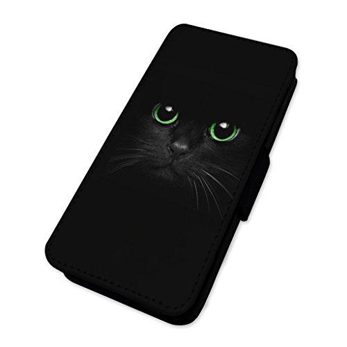 gen–Flip Case Wallet Cover Card Holder Huawei P10 Lite (Black Cat Customs)