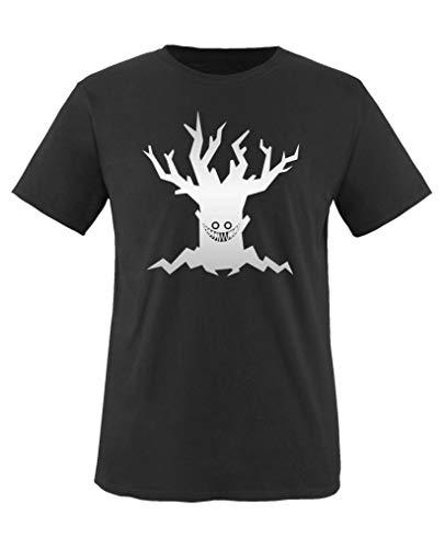 Comedy Shirts - Boeser Baum - Halloween - Jungen T-Shirt - Schwarz/Silber Gr. 152-164