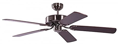 Pepeo 1336201232 Potkuri Ceiling Fan with Mahogany Blades - Aged Silver