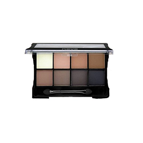 Segolike Beauty 8 Colors Diamond Bright Shimmer Matte Eye Shadow Warm Natural Shades Nude Smoky Eye Shadow Palette Kit - #3, Full Size