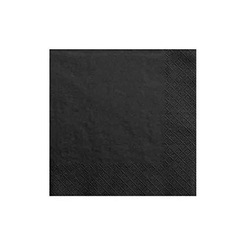 jakopabra Servietten 33 x 33 cm 3-lagig aus Papier (schwarz)