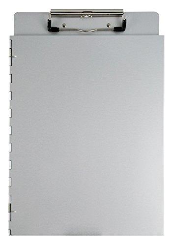 Saunders 22017 Dokumenten Klemmbrett mit seitlicher Schutzkappe, aus Aluminium, für DIN A4, Deckel...