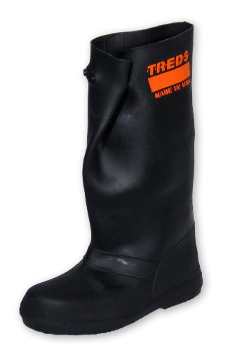 treds over-the-shoe 43,2 cm Gummi Slush Stiefel, Schwarz, Gummi, schwarz, L (Slush-boot)