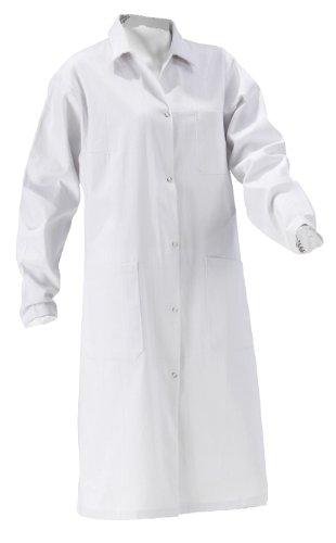 KOKOTT Laborkittel Damen und Herren, Medizin, weiß, 100% Baumwolle mit Druckknöpfen, geeignet für Studium/Praktika/Arbeit, aus eigener Produktion (38, Damen) - Revers-stifte