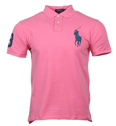 Ralph Lauren Custom Slim Fit Polo - Big Pony - Pink (Pink, M) -