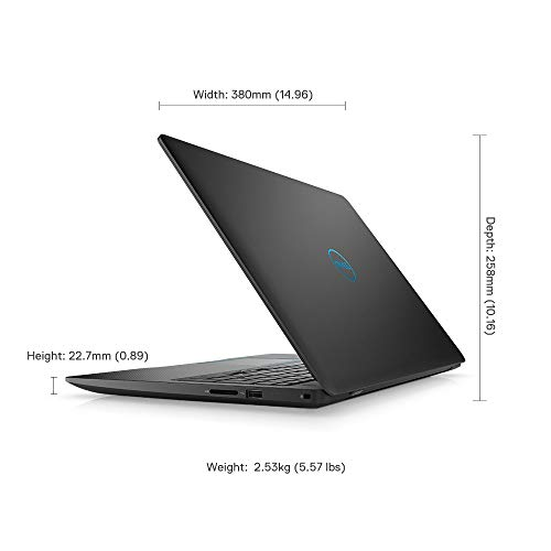 """DELL Gaming-G3 3579 15.6"""" FHD Laptop (eighth Gen Core i5-8300H/8GB/512GB SSD/Windows 10 + MS Office/4GB NVIDIA 1050 Ti Graphics), Black Image 6"""