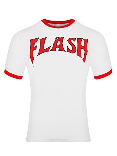 laylawson Herren Flash Gordon 100% Baumwolle Kurzarm T-Shirt Top Retro Neuheit Weiß[Gro?][Wei?]
