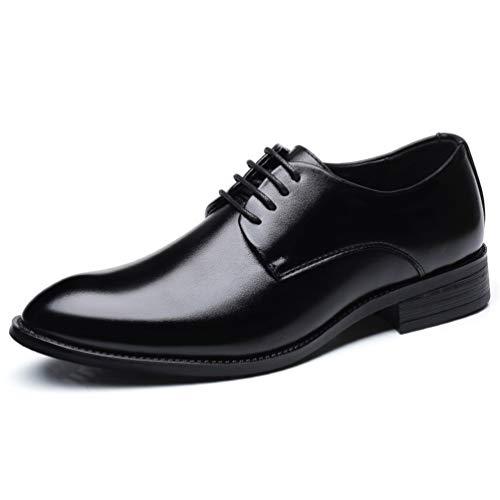 Männer Hochzeitsschuhe Mikrofaser Formale Geschäft Spitze Zehen für Mann Kleider Schuhe Oxford Flats (Flat Feet Kleid Schuh)