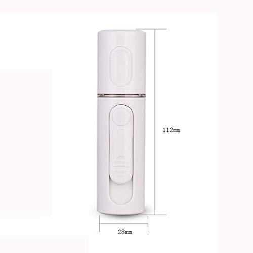 QUICKLYLY Humidificador Aromaterapia Difusor Aceites Esenciales Ultrasónico Pequeño Radiador Esencias Purificar Aire Humectador Hidratador Agua Facial Instrumento Nano Pulverización Carga USB