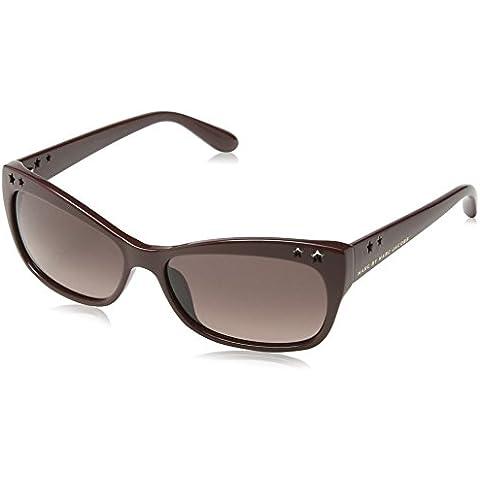 Marc Jacobs - Gafas de sol Wayfarer MMJ 233/S para mujer, Maroon Frame/Gradient Violet