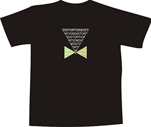 T-Shirt E482 Schönes T-Shirt mit farbigem Brustaufdruck - Logo / Grafik - abstraktes Design - minimalistisches Motiv aus Dreiecken DISTORTION Weiß