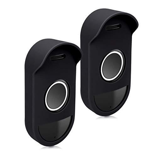 kwmobile 2X Arlo Smart Audio Doorbell Hülle - Silikon Security Camera Cover Schutzhülle für Arlo Smart Audio Doorbell Kamera Audio-cover