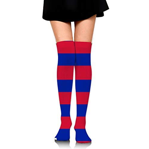 rouxf Knielange Socken Haitianische Flagge Über Kalb Kniehohe Socken Wintermode Kleid Socke 65 cm Länge -